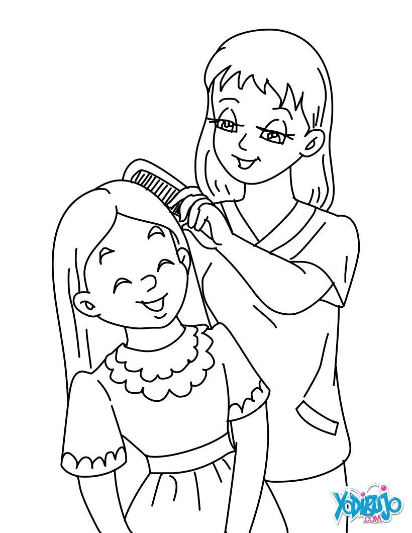 Dibujos Para Colorear Mamá Con Su Hija Eshellokidscom
