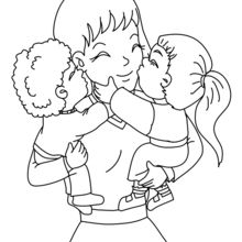 Dibujos Para Colorear Mamá Con Su Hijos Eshellokidscom