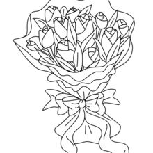 Dibujo para colorear : Tulipanes para Máma