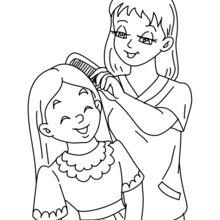 Dibujo para colorear : Mamá con su hija