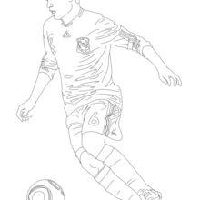 Dibujo para colorear : Andres Iniesta