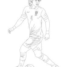 Dibujo para colorear : David Luiz