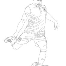 Dibujo para colorear : Franck Ribery