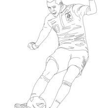 Dibujo para colorear : Karim Benzema