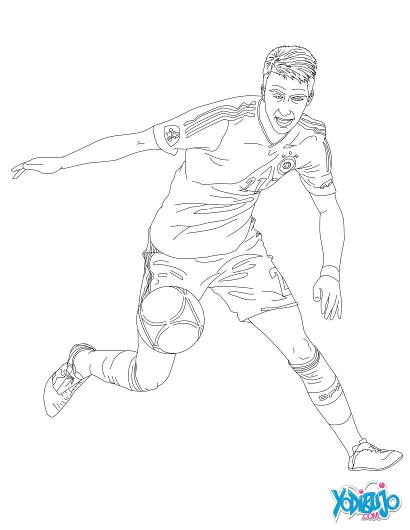 Dibujos de FÚTBOL para colorear - pintar 139 páginas de fútbol