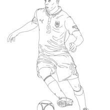 Dibujo para colorear : Mario Baloteli