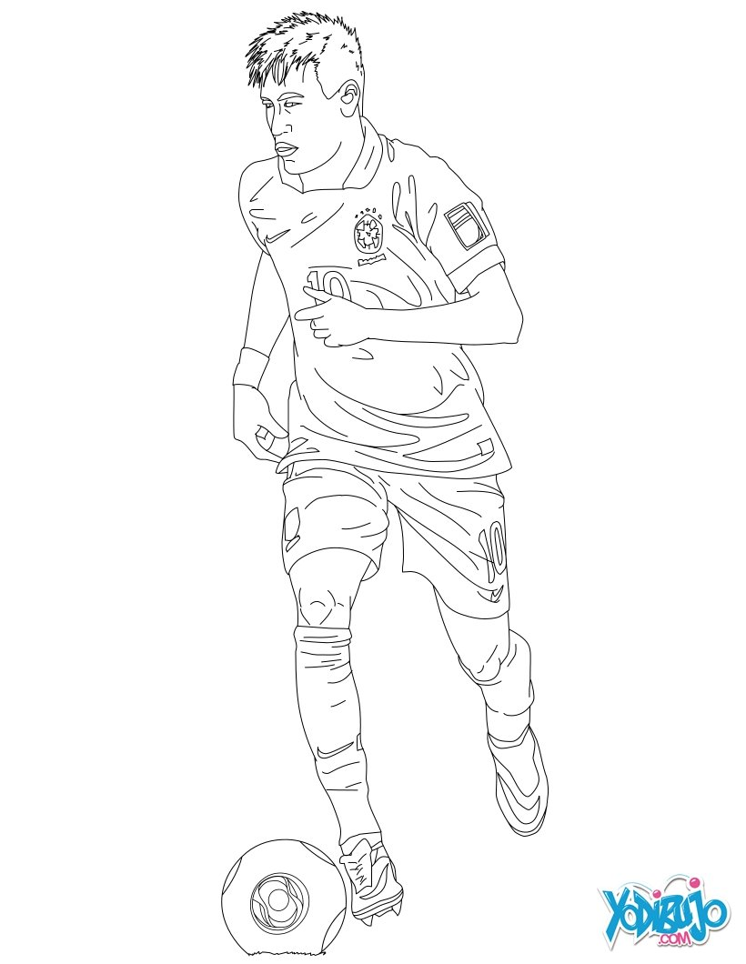 Dibujos para colorear neymar  eshellokidscom