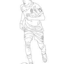 Dibujo para colorear : Neymar