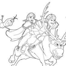 Dibujo para colorear : Anna y Kristoff