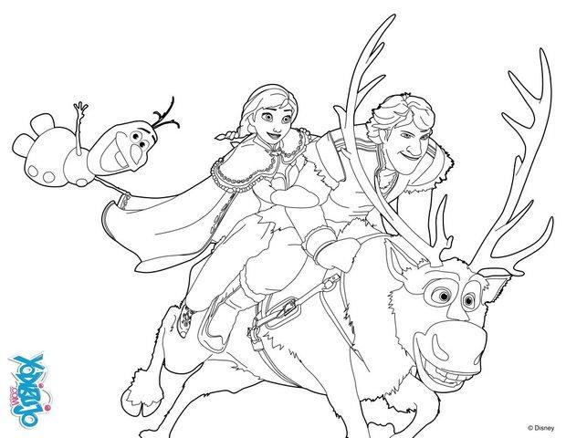 Dibujos para colorear ana y kristoff  eshellokidscom