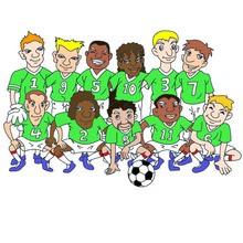 Fútbol, EQUIPOS DE FUTBOL para colorear