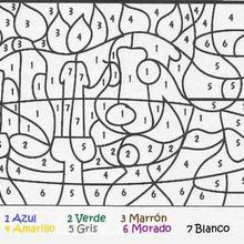 Dibujo colorear y calcular