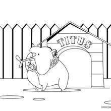 Dibujo para colorear : un perro Bulldog