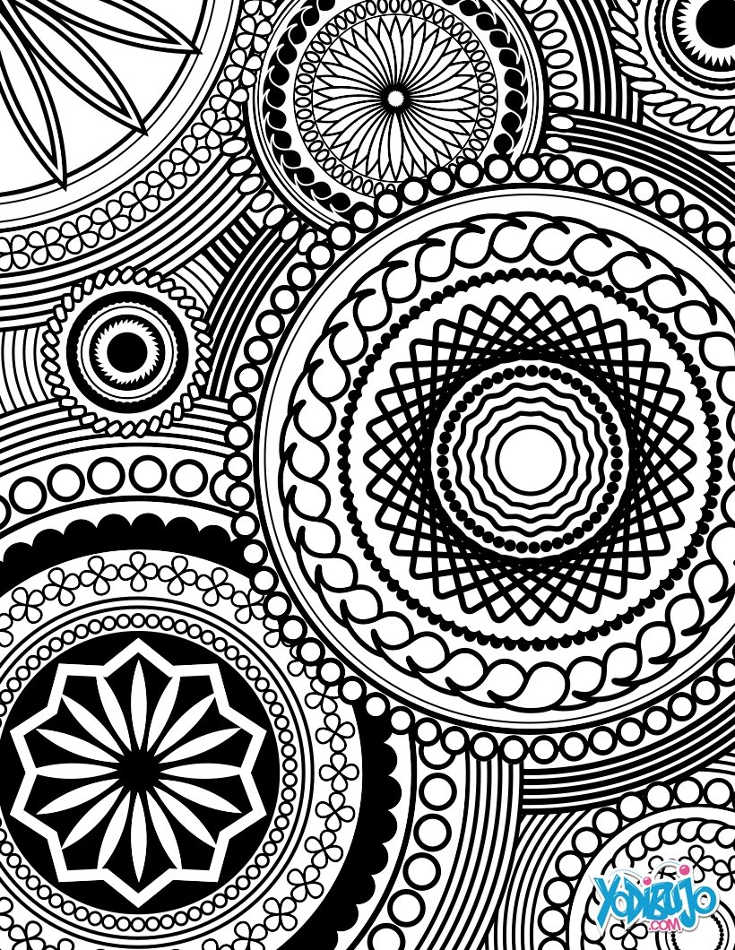 Dibujos para colorear arte-terapia - es.hellokids.com