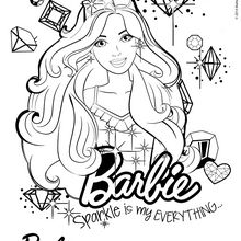 Dibujo para colorear : Barbie modelo