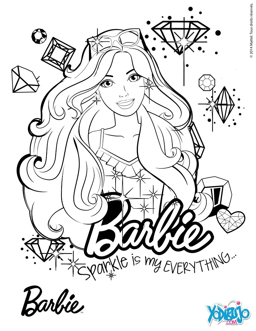 Dibujos para colorear barbie modelo  eshellokidscom