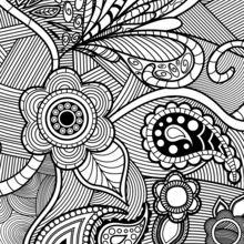 Dibujo para colorear : Colorear para concentrarse
