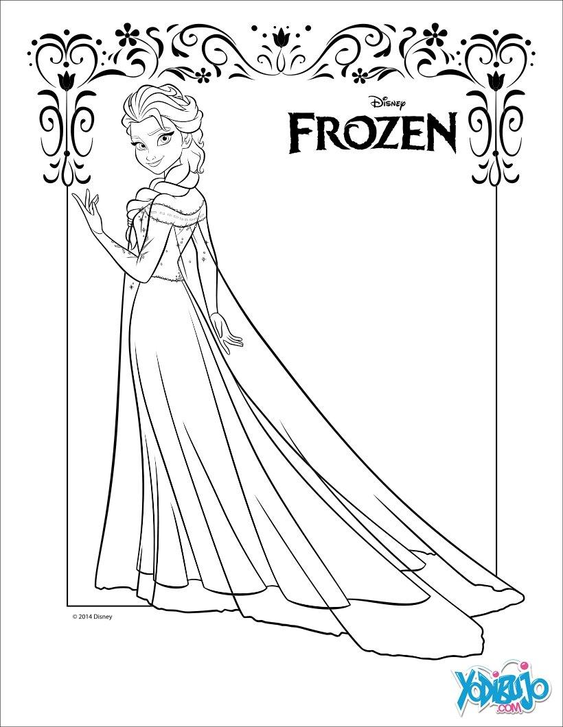 Dibujos para colorear elsa, la reina de las nieves - es.hellokids.com