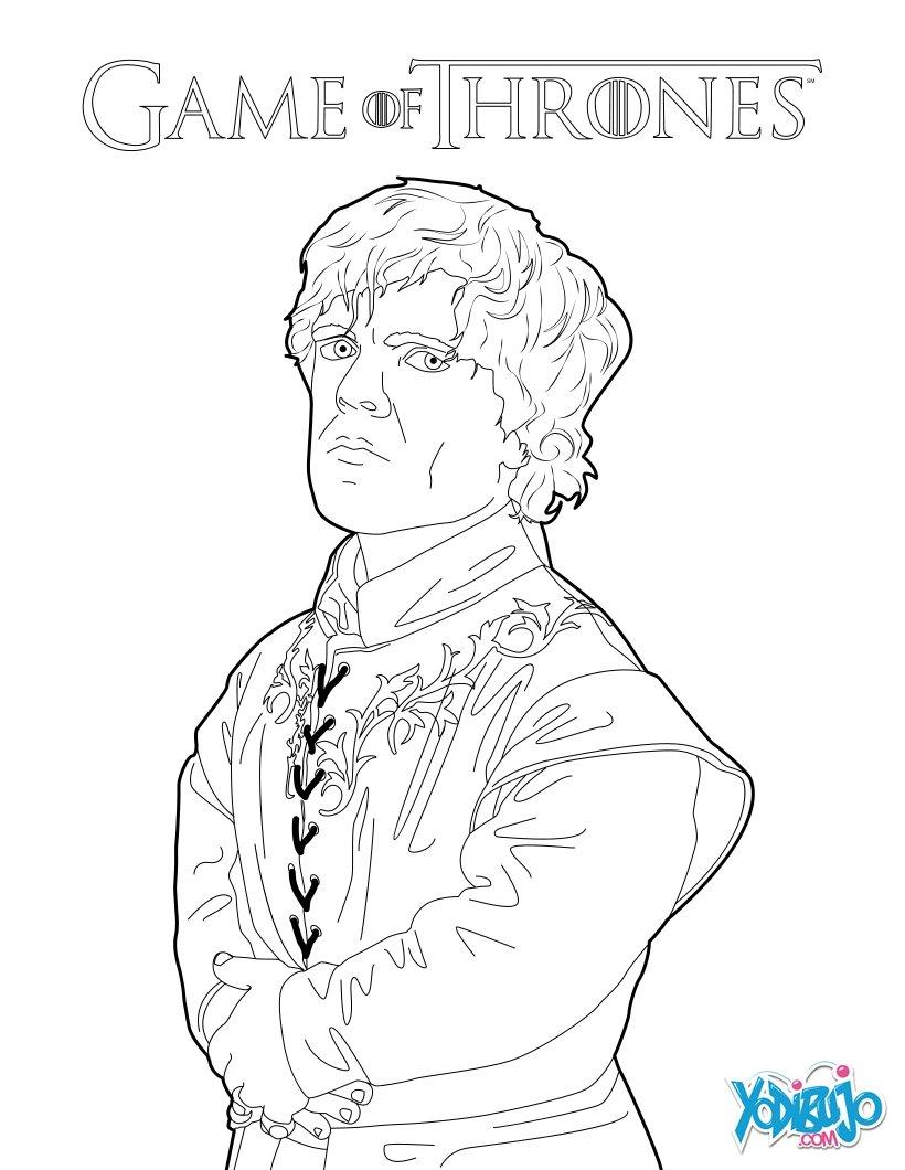 Dibujos para colorear game of thrones: tyrion lannister - es ...
