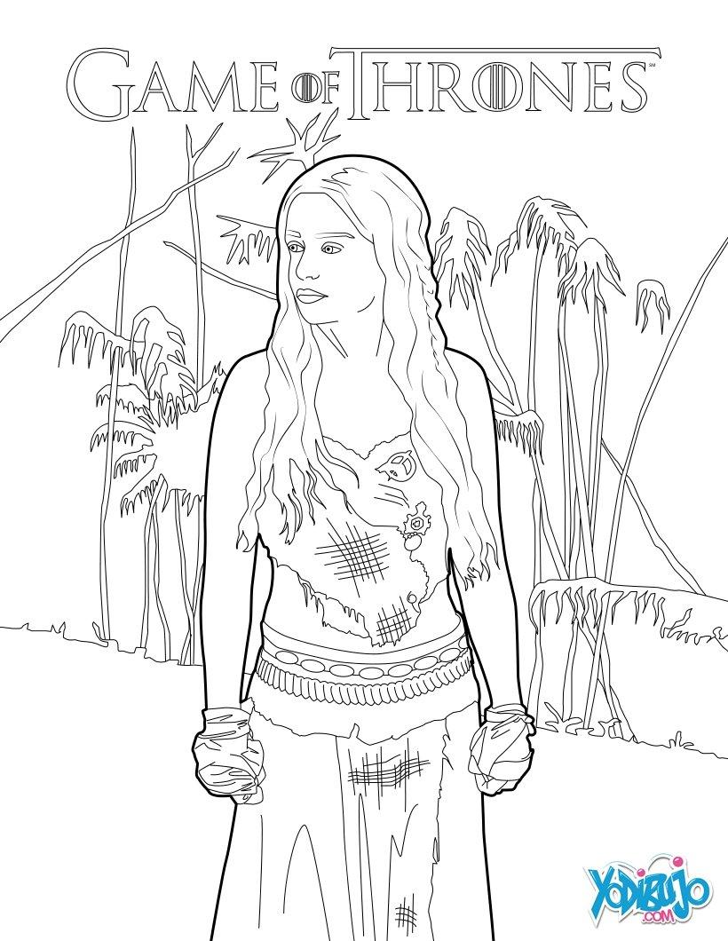 Dibujos para colorear juego de tronos: daenerys targaryen, la madre ...