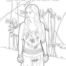 Dibujo para colorear : Juego de Tronos: Daenerys Targaryen, la madre de los dragones