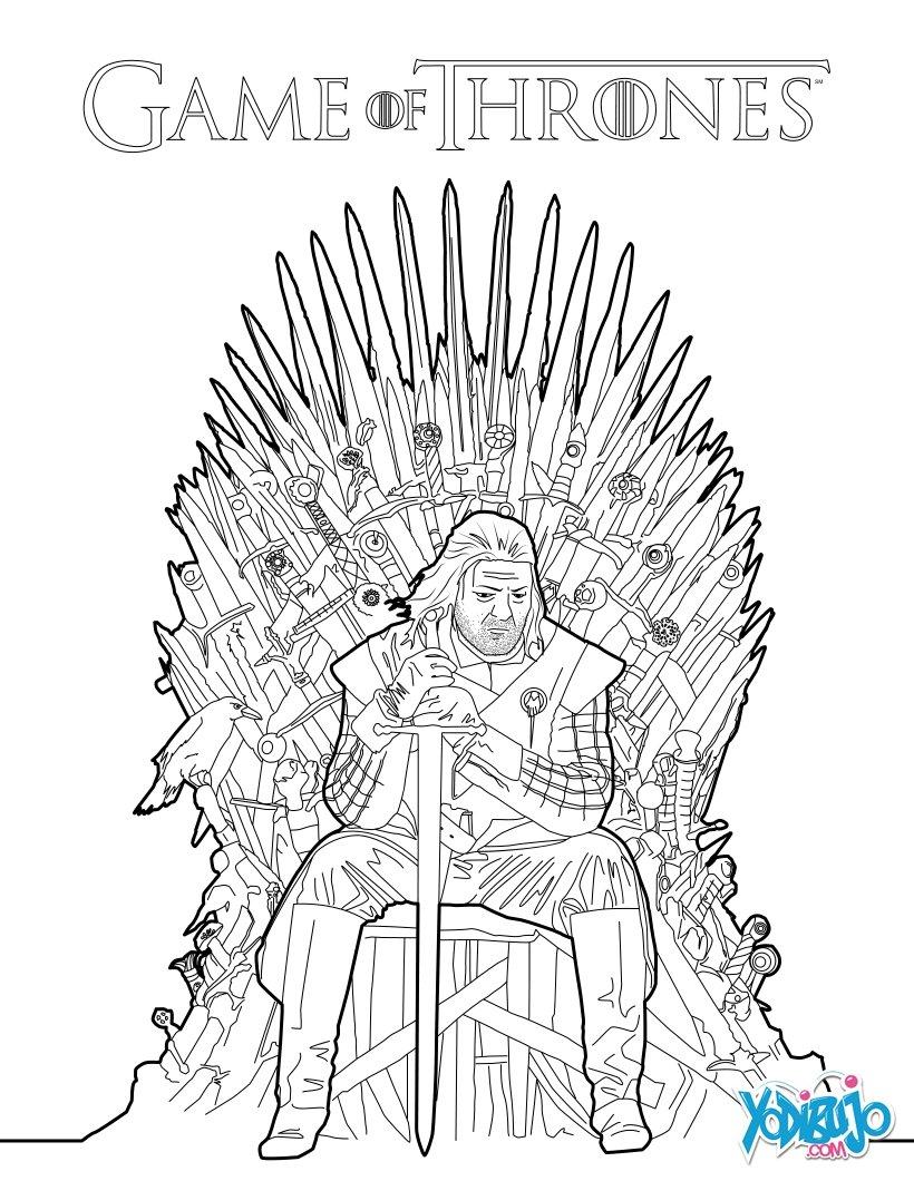 Dibujo para colorear : Juego de Tronos: Ned Stark