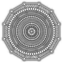 Dibujo para colorear : Mandala anti-estrés