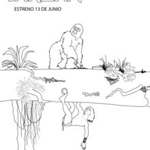Dibujo para colorear : Tarzán y Terk