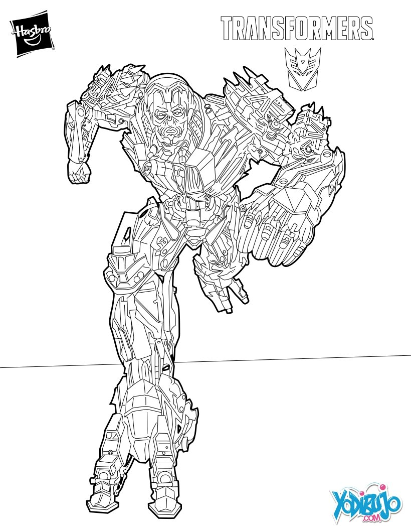 Transformers Drift Coloring Pages