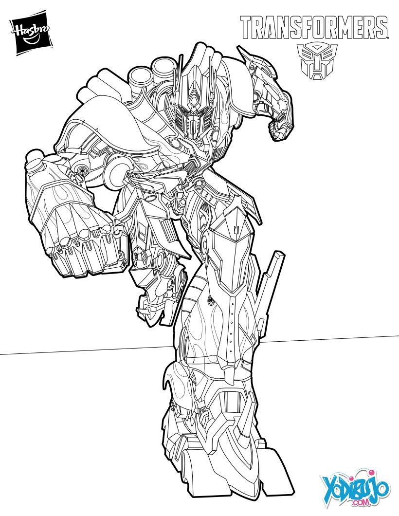 Dibujos Para Colorear Bumblebee Modo Coche Eshellokidscom
