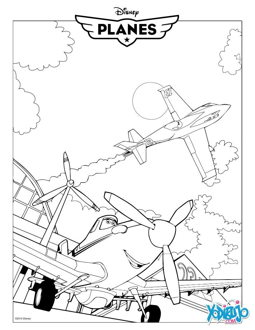 Dibujos para colorear avin dusty de la pelcula aviones  es