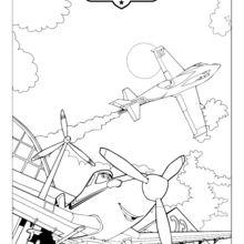 Dibujo para colorear : Avión Dusty de la película Aviones