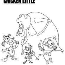 Chicken Little con sus amigos