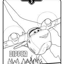 Dibujo para colorear : Dipper de Aviones 2