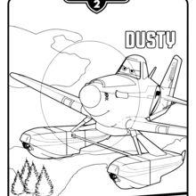 Dibujo para colorear : Dusty de Aviones 2