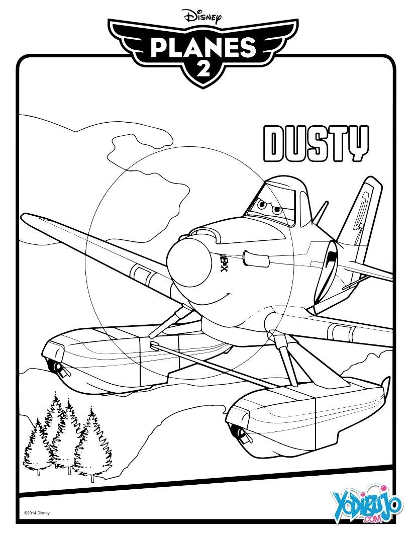 Dibujos para colorear dusty de aviones 2 - es.hellokids.com