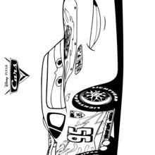 Dibujo para colorear : el campeón Rayo McQueen