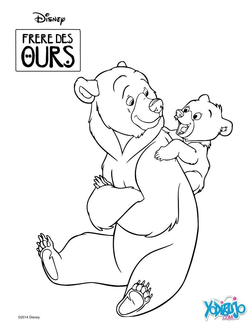 Dibujos para colorear hermano oso: kenaï y koda - es.hellokids.com