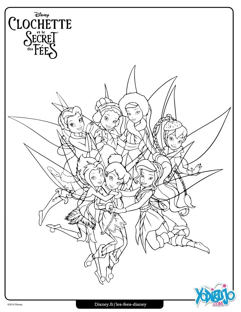 Dibujos para colorear las amigas de campanilla - es ...