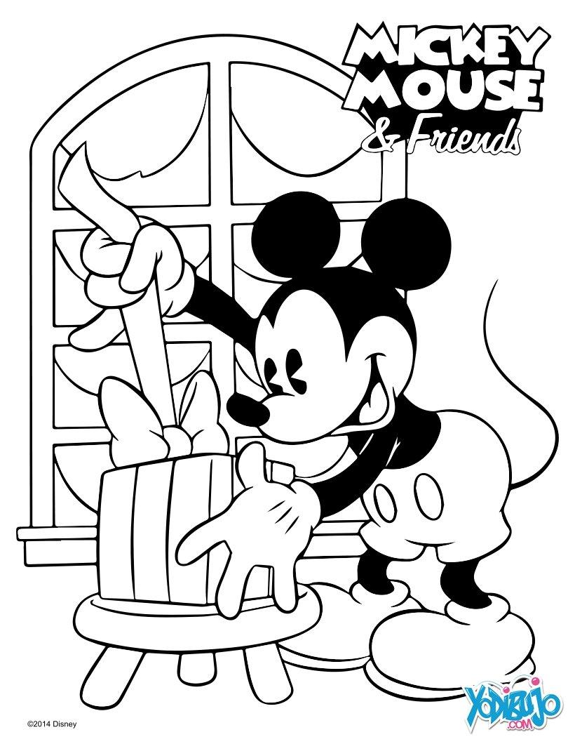 Dibujos para colorear mickey navidad - Dessin de noel disney ...