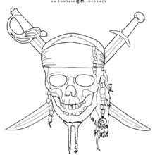 Dibujo para colorear : Piratas del Caribe
