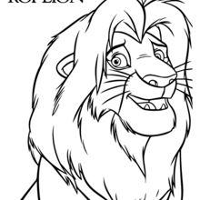 Dibujo para colorear : Simba, el Rey León