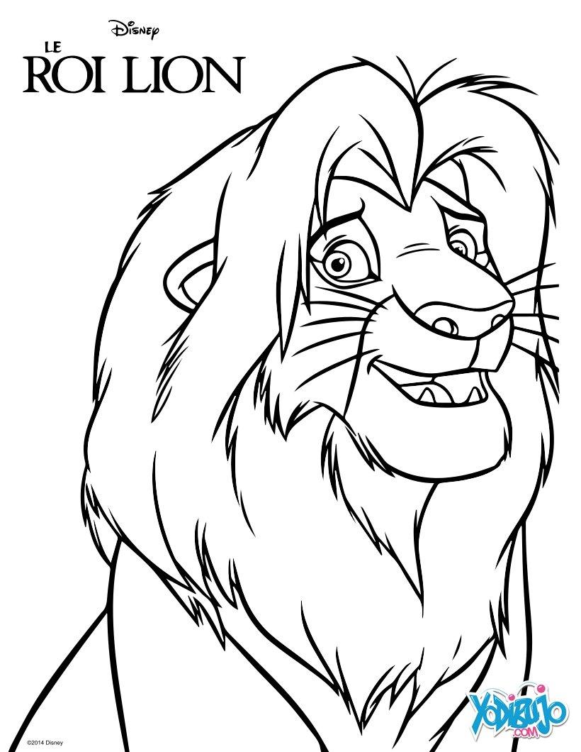 Dibujos para colorear simba, el rey león - es.hellokids.com