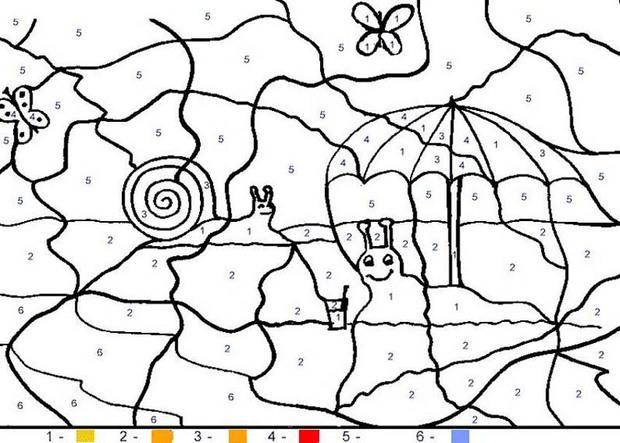 Juego infantil : Juegos de pintar CARACOLES
