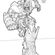 Dibujo para colorear : Optimus Prime