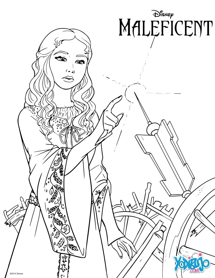 Dibujos para colorear princesa aurora - es.hellokids.com