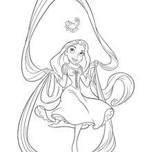 Dibujo para colorear : Cabello mágico de Rapunzel