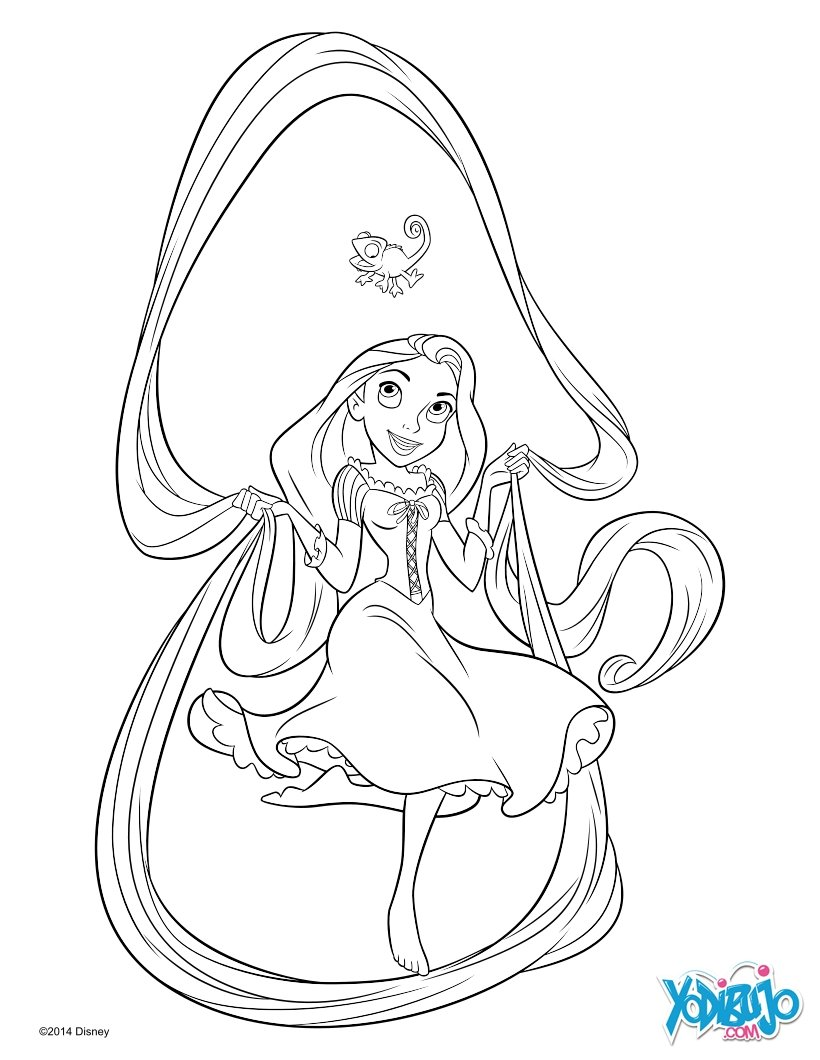 Rapunzel : Dibujos para Colorear, Videos y Tutoriales, Lecturas ...