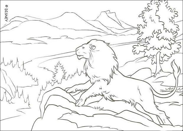 Dibujos para colorear el león aslán - es.hellokids.com