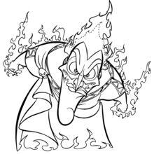 Dibujo para colorear : Hades el enemigo de Hercules